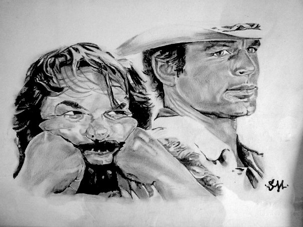Terence Hill, Bud Spencer by fasterfive
